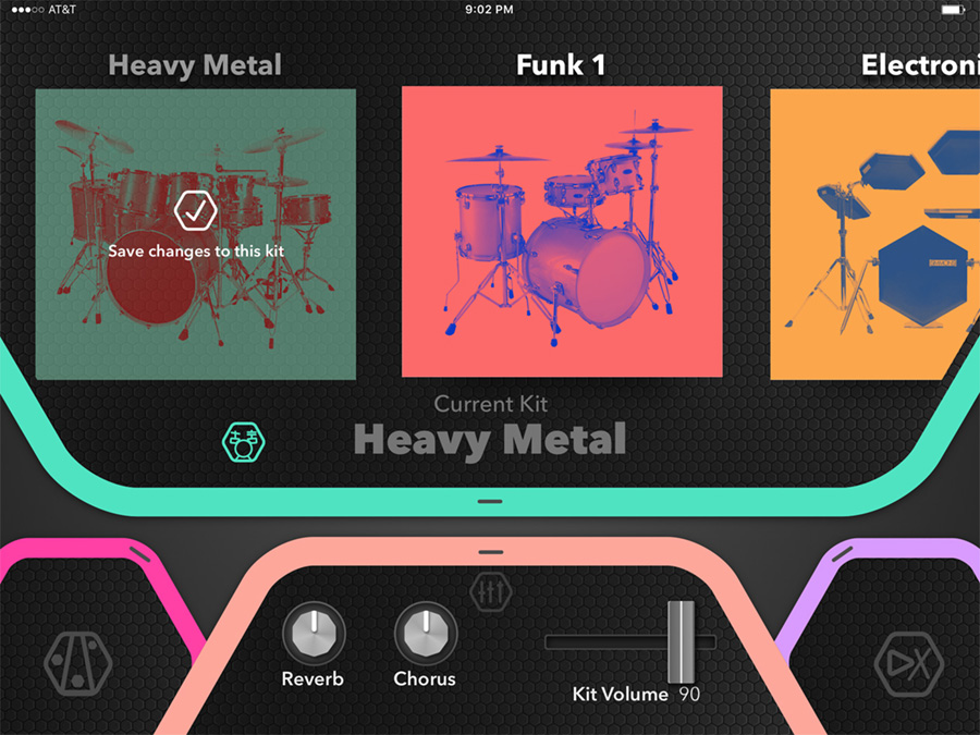 Simmons Drums App Kit Select Screenshot