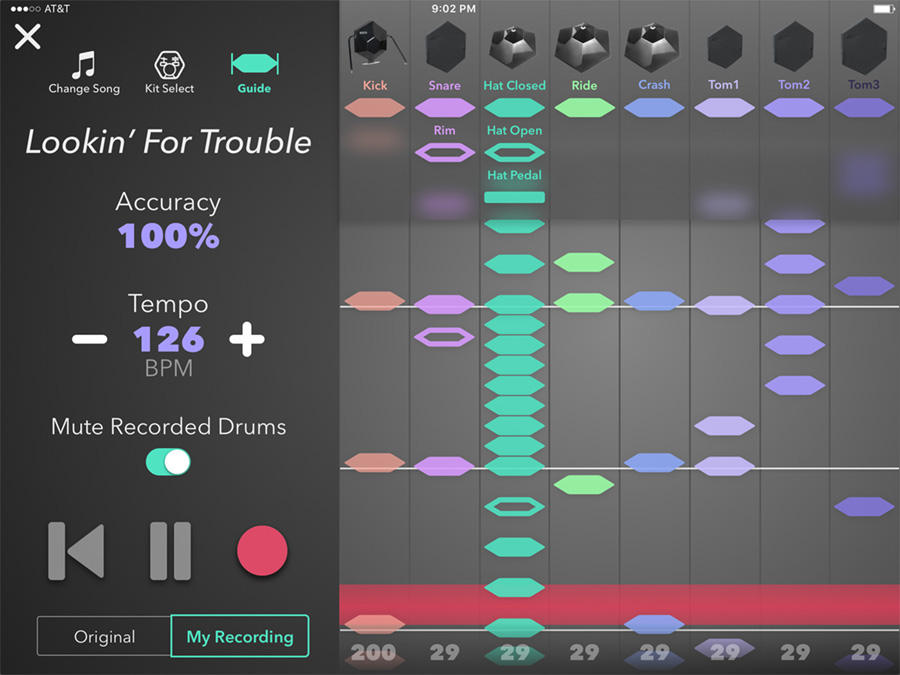 Simmons Drums App Teaching Tool Screenshot