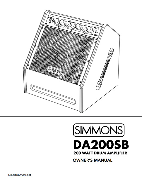 Simmons DA200SB Manual