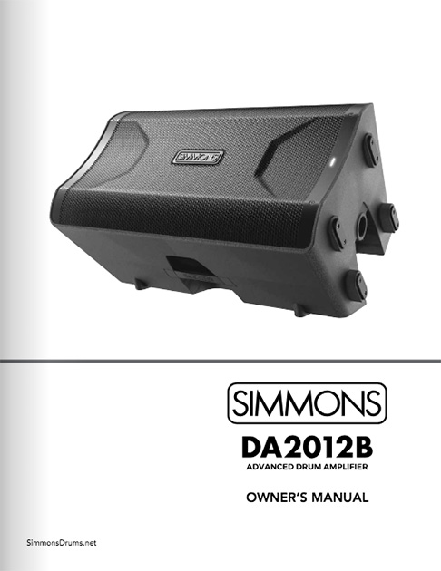 Simmons DA2012B Manual