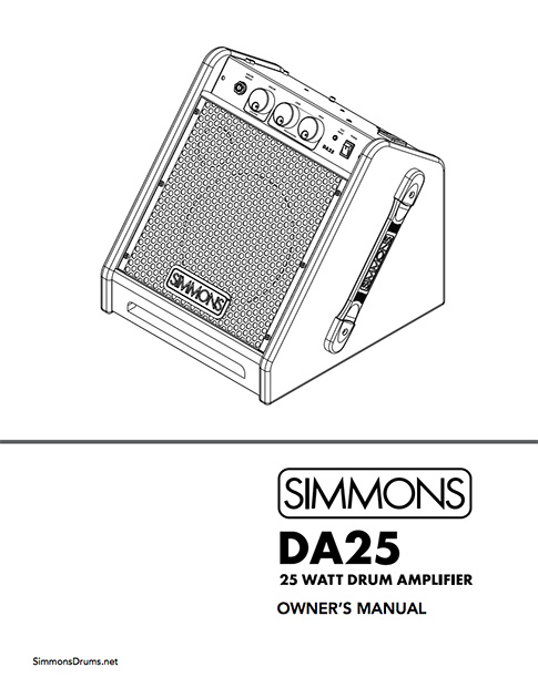 Simmons DA25 Manual