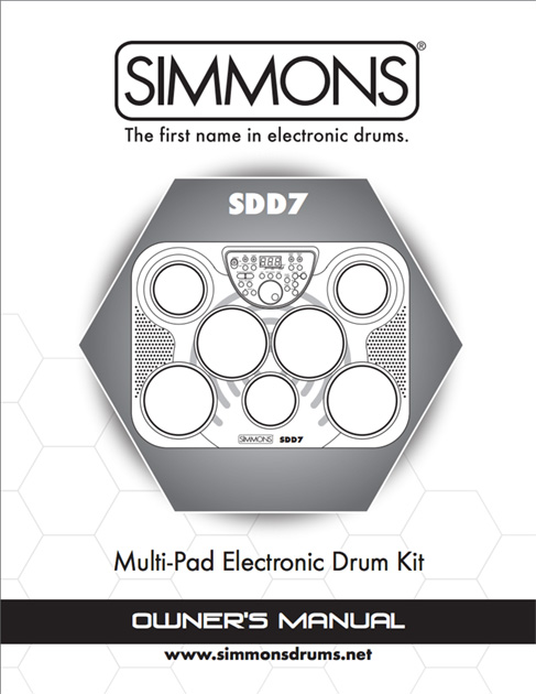 Simmons SDD7 Manual